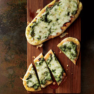 Food & Wine: Four-Cheese Grilled Pesto Pizza
