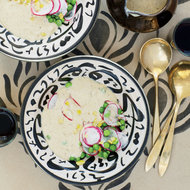 Food & Wine: Silky Eggplant Soup with Baby Peas and Radishes