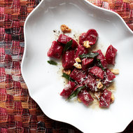 Food & Wine: Beet Gnocchi with Walnut-Sage Butter