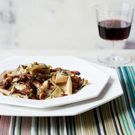 Food & Wine: Toasted Fazzoletti with Chanterelles and Hazelnuts