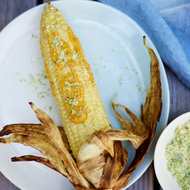 Food & Wine: Corn on the Cob with Curry Mayonnaise and Chile Salt