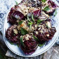 Food & Wine: Grilled Radicchio with Lemon-Hazelnut Dressing