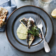 Food & Wine: Rosemary-Grilled Mackerel with Mustard-Dill Mayonnaise