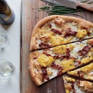 Food & Wine: Bacon-and-Egg Pizza