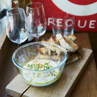 Food & Wine: Creamy Cheese and Green Herb Spread