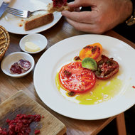 Food & Wine: Heirloom Tomatoes with Anchovies and Red Chiles