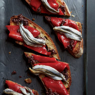 Food & Wine: Piquillo Pepper and White Anchovy Toasts