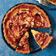 Food & Wine: Caramelized-Apple Custard Tart with a Rye Crust
