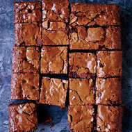 Food & Wine: Double Chocolate-Peanut Butter Chip Brownies