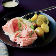Food & Wine: Poached Salmon with Minted Yogurt Sauce
