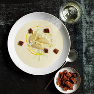 Food & Wine: Cabbage Velouté with Poached Pears and Croutons