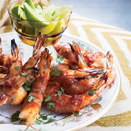 Food & Wine: Prosciutto-Wrapped Shrimp with Bourbon Barbecue Sauce