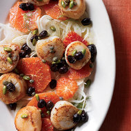 Food & Wine: Scallops with Blood Orange, Fennel and Pistachios