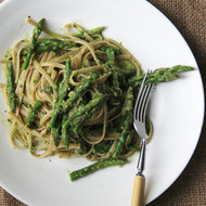 Food & Wine: Asparagus Pesto with Whole Wheat Pasta