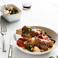 Food & Wine: Braised Lamb Shanks with Roasted Tomatoes