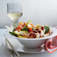 Food & Wine: Chinese-Style Poached Chicken with Pear and Orange