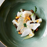 Food & Wine: Marinated Pine Mushrooms with Asian Pear and Pine Nuts