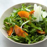 Food & Wine: Arugula and Persimmon Salad with Shaved Manchego Cheese