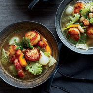 Food & Wine: Seared Scallop Stew with Winter Vegetables