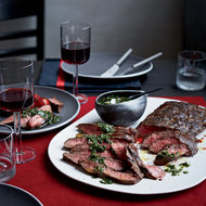 Food & Wine: Flat Iron Steaks with Blue Cheese Butter