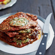 Food & Wine: Minute Steak Stacks with Herbed Anchovy Butter