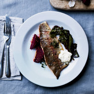 Food & Wine: Rainbow Trout with Brown Butter and Salt-Roasted Beets