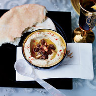 Food & Wine: Hummus with Spiced Beef and Pine Nuts
