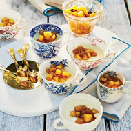 Food & Wine: Lemon Puddings with Granny Smith Apple Compote
