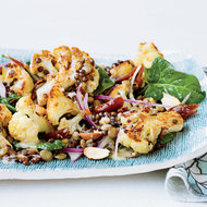 Food & Wine: Roasted Cauliflower Salad with Lentils and Dates