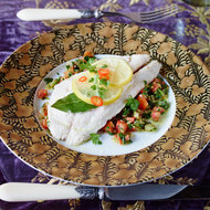 Food & Wine: Striped Bass en Papillote with Lebanese Salad