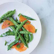 Food & Wine: Sugar Snap Peas with Mint and Warm Coconut Dressing