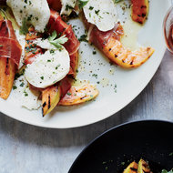 Food & Wine: Grilled Cantaloupe with Prosciutto and Mozzarella
