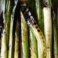 Food & Wine: Grilled Leeks with Shishito Romesco