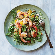 Food & Wine: Grilled Shrimp with Black-Eyed Peas and Chimichurri