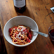 Food & Wine: Bucatini all'Amatriciana with Parmigiano
