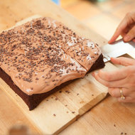 Food & Wine: Chocolate Cake with Chocolate Buttercream and Cocoa Nibs