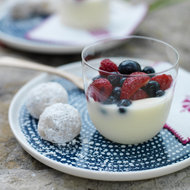 Food & Wine: Creamy Citrus Puddings with Fresh Berries