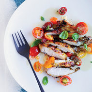 Food & Wine: Grilled Chicken with Asian Marinated Tomatoes