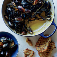 Food & Wine: Mussels with Saffron and Citrus