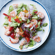 Food & Wine: Poached Shrimp with Coconut Water and Lime