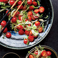 Food & Wine: Tomato, Onion and Green Pepper Salad with Shiso