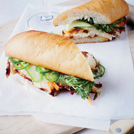 Food & Wine: Five-Spice Chicken Banh Mi Sandwiches