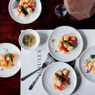 Food & Wine: Fried Squash with Sage Honey, Parmesan and Pickled Chiles