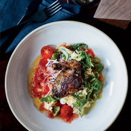 Food & Wine: Grilled Squab Breasts with Creamy Orzo