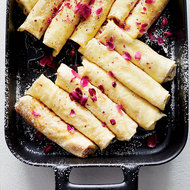 Food & Wine: Ricotta Crêpes with Honey, Walnuts and Rose