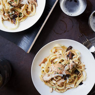 Food & Wine: Tagliatelle with Braised Chicken and Figs