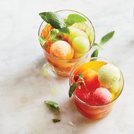 Food & Wine: Wine Punch with Melon Ice Cubes