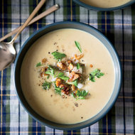Food & Wine: Creamy Parsnip Soup with Pear and Walnuts