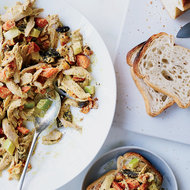 Food & Wine: Curried Chicken Salad with Roasted Carrots
