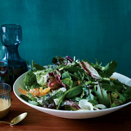 Food & Wine: Bitter Greens Salad with Asian Pears, Avocado and Tahini Dressing